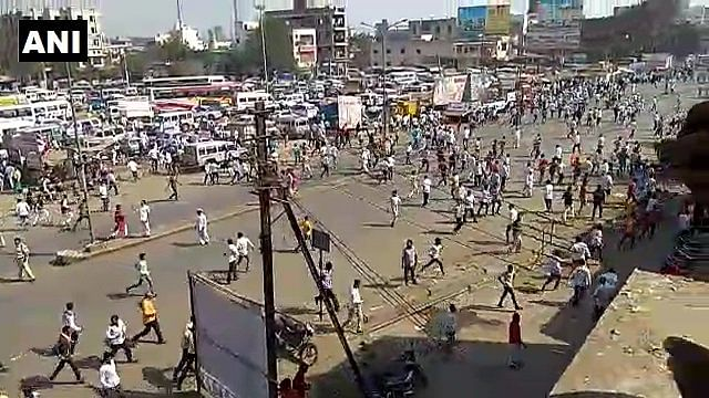 Violent protests near Pune as an aftermath of the incident on 1 January.