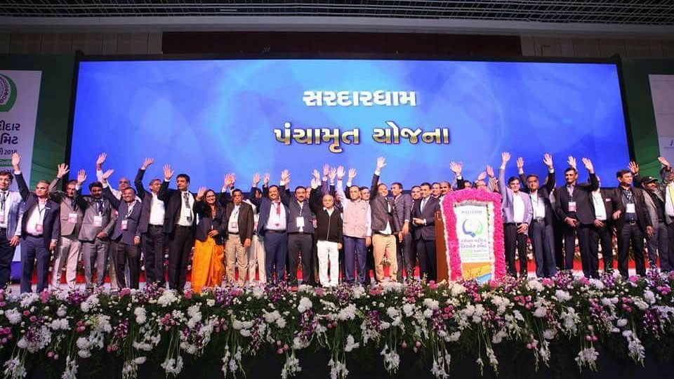 Business Leaders and politicians at the Global Patidar Business Summit.