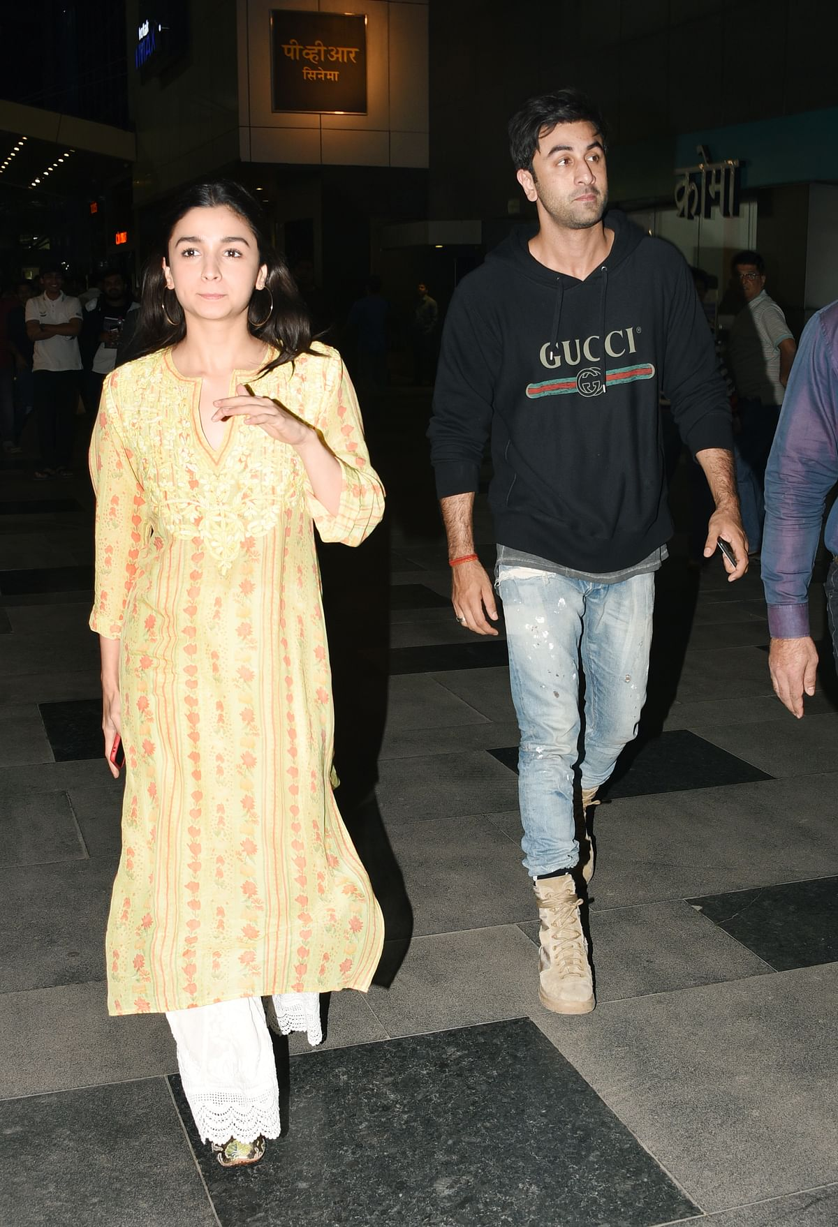 Alia Bhatt and Ranbir Kapoor attend the special screening of <i>Padmaavat.</i>