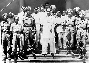 Dr BR Ambedkar with members of the Mahar regiment in a file photo