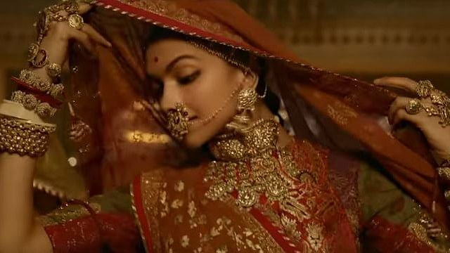 Deepika Padukone in a still from the song 'Ghoomar' from Padmaavat.