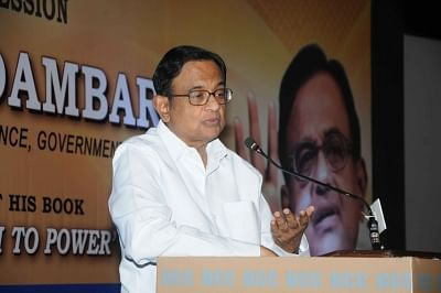 Kolkata: Former Union Minister P Chidambaram during an exclusive session organised by Bharat Chamber of Commerce in Kolkata on Feb 26, 2018. (Photo: IANS)