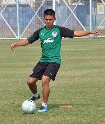 Sunil Chhetri. (Photo: Kuntal Chakrabarty/IANS)