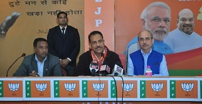 Shillong: BJP leader Rajiv Pratap Rudy along with the party
