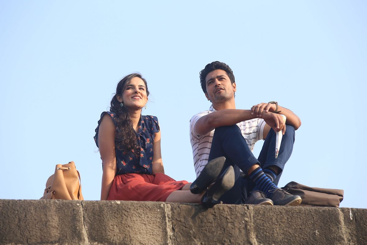 Angira Dhar and Vicky Kaushal in <i>Love Per Square Foot</i>.
