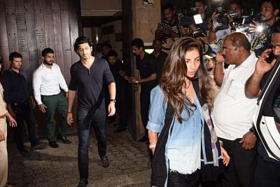 Mumbai: Mohit Marwah and his wife Antara Motiwala at Anil Kapoor