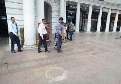 New Delhi: The spot where a man was allegedly shot at in Delhi