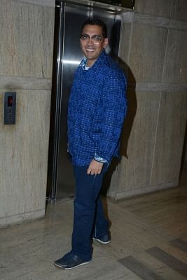 """Mumbai: Director Chakri Toleti at the special screening of his upcoming film """"Welcome to New York"""" in Mumbai on Feb 19, 2018. (Photo: IANS)"""