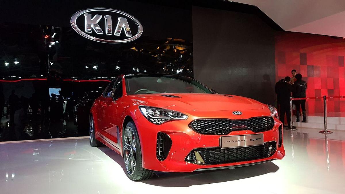 KIA Stinger GT at the Auto Expo