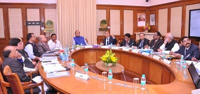 New Delhi: Union Finance and Corporate Affairs Minister Arun Jaitley chairs the NABARD Board Meeting in New Delhi on Feb 26, 2018. (Photo: IANS/PIB)