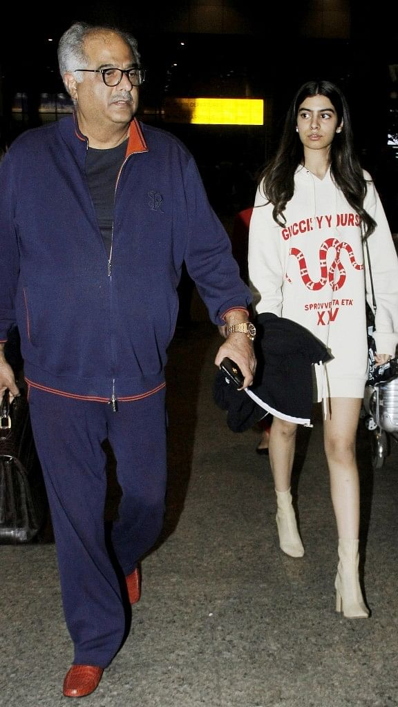 Father-daughter duo, Boney and Khushi Kapoor keep it casual.