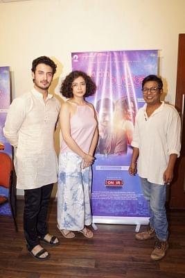 Mumbai: Actors Zain Khan Durrani, Geetanjali Thapa and filmmaker Onir. (Photo: IANS)