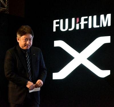 New Delhi: Fujifilm India MD Haruto Iwata during the launch of X-H1 camera in New Delhi on Feb 22, 2018. (Photo: IANS)