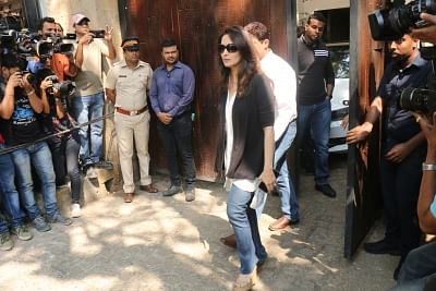 Mumbai: Actress Madhuri Dixit Nene at actor Anil Kapoor