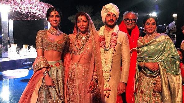 Sri Devi at her nephew's wedding in Dubai