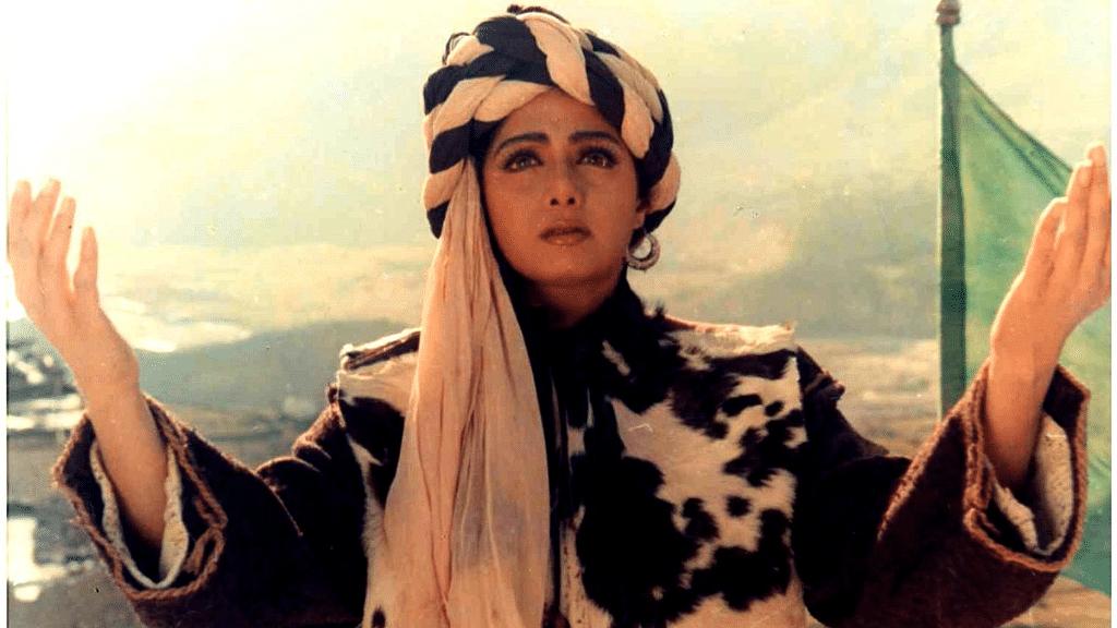 Sridevi in a still from <i>Khuda Gawah.</i>
