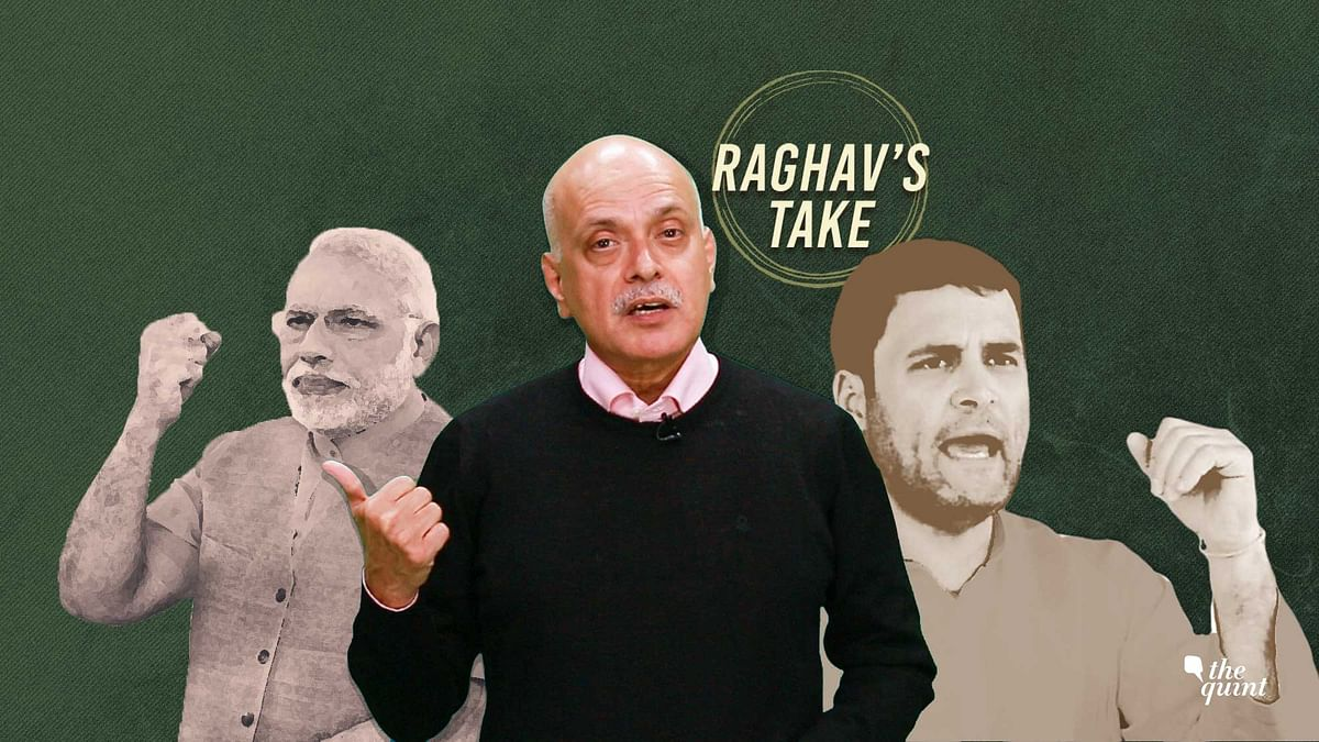 PM Modi (left), The Quint's Founder-Editor, Raghav Bahl (centre), Rahul Gandhi (R). Image used for representational purposes.