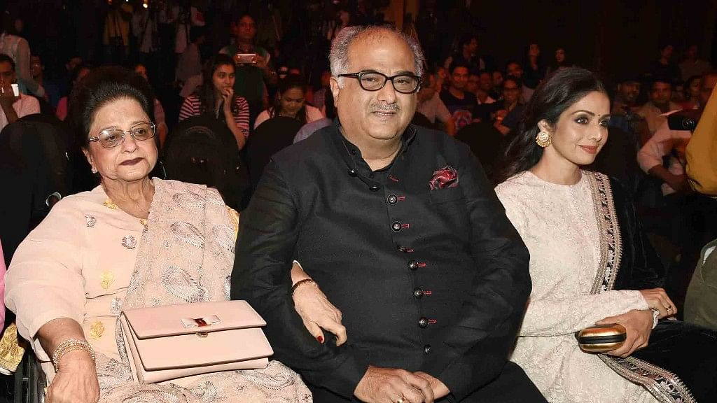 Boney Kapoor was by Sridevi's side when she passed away.