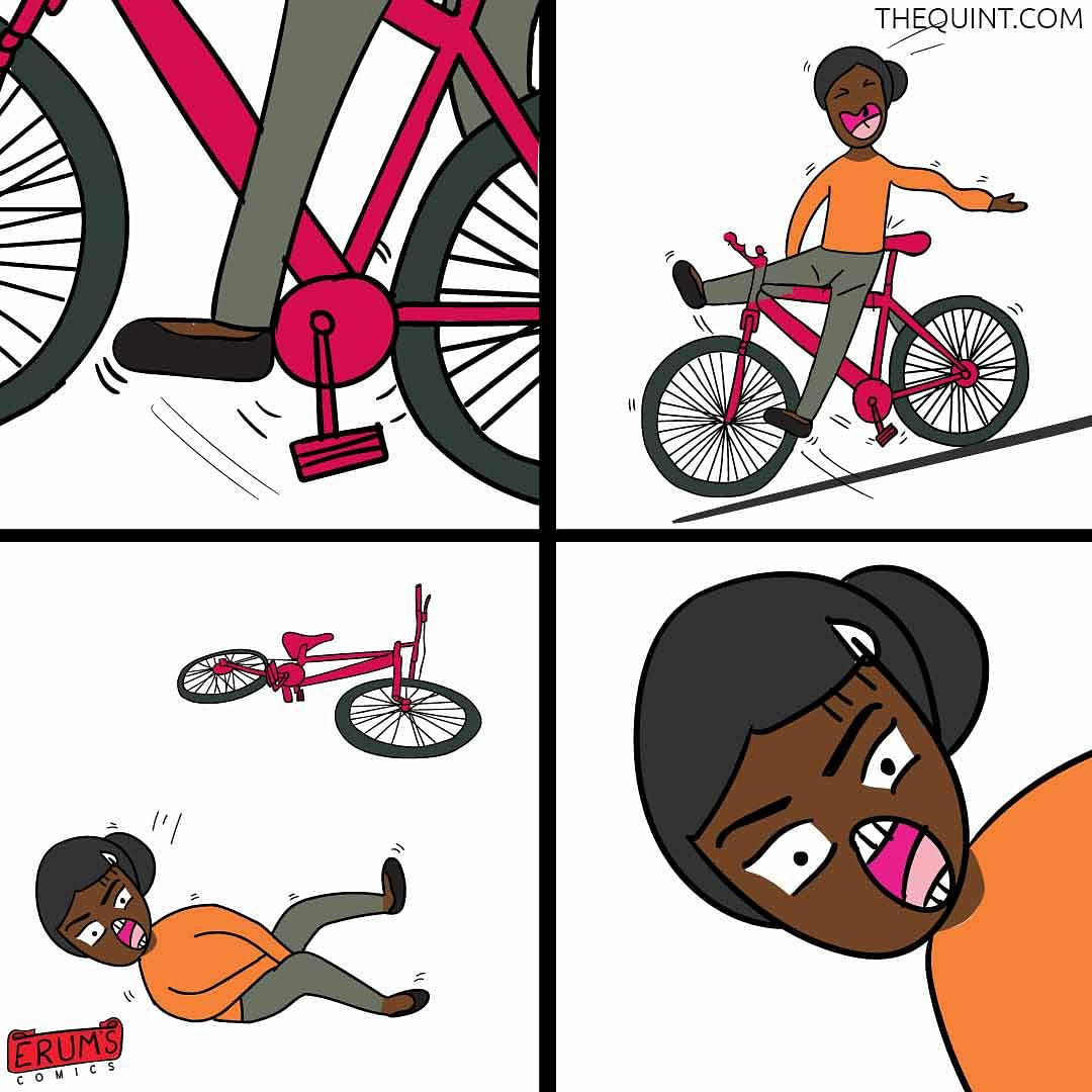 Erum's Comics: The Usual Bicycle Ride