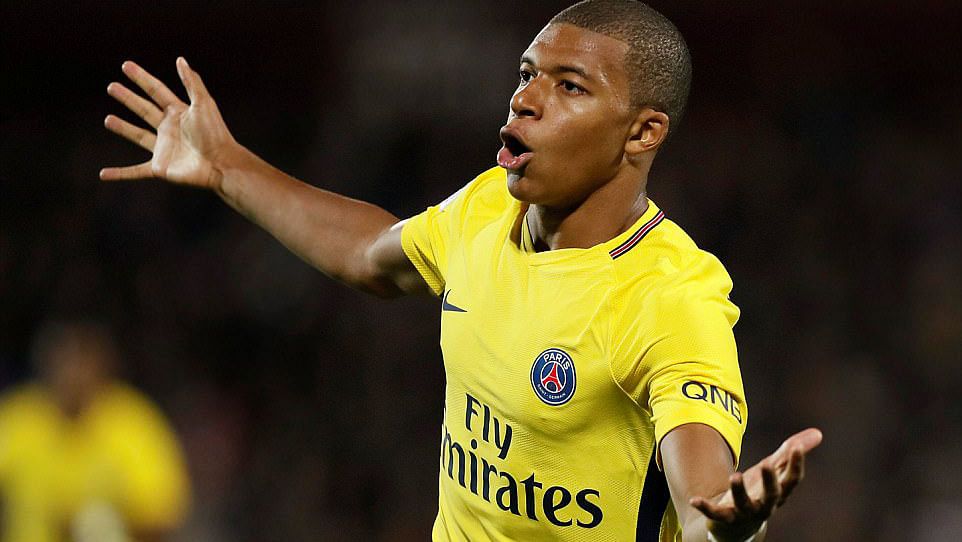Mbappe scored on his debut for PSG.