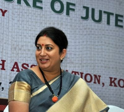 Kolkata: Union Textiles Minister Smriti Irani during the inauguration of the 27th Technological Conference - 'Shaping the Future of Jute', organised by Indian Jute Industries' Research Association, in Kolkata on Feb 28, 2018. (Photo: IANS)