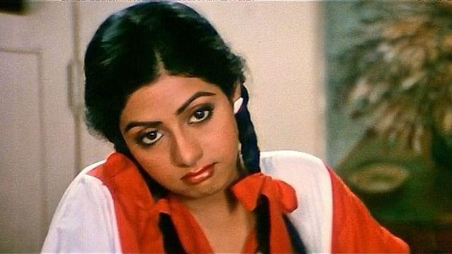 Sridevi in a still from <i>Mr India</i>.