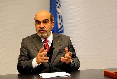 Director General of the UN Food and Agricultural Organization (FAO) Jose Graziano da Silva. (Xinhua/Xu Nizhi)(hy)