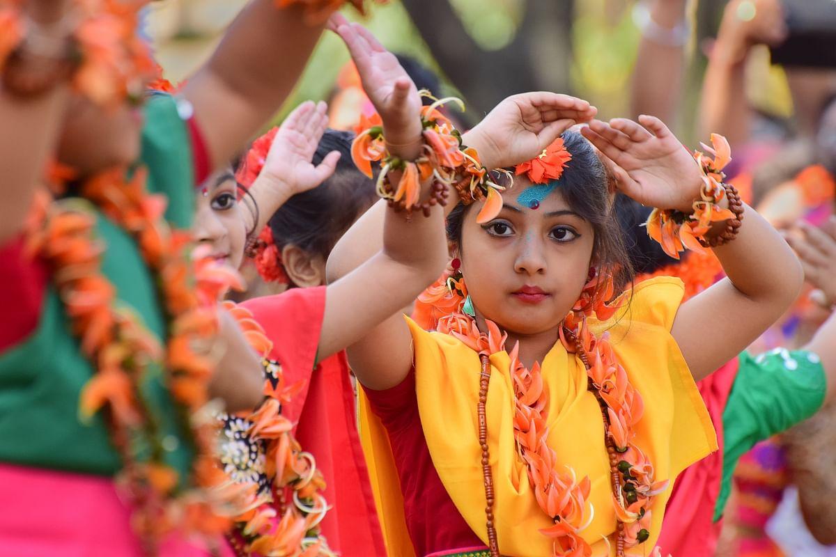 Basanta Utsav at Visva Bharati.
