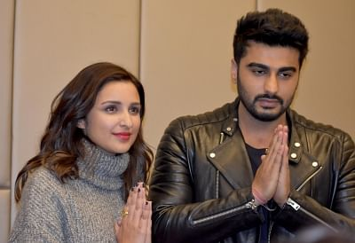Actors Parineeti Chopra and Arjun Kapoor. (Photo: IANS)