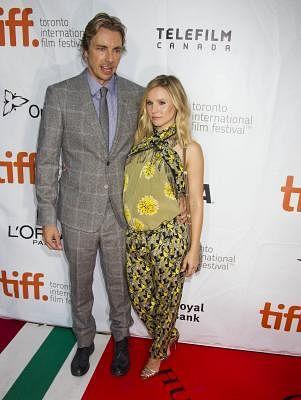 Actor Dax Shepard and his wife Kristen Bell. (Photo: Xinhua/Zou Zheng/IANS)