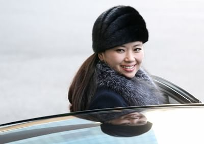 Seoul: Hyon Song-wol, leader of the North Korean art troupe, gets into a car at Grand Walkerhill hotel in eastern Seoul on Feb. 12, 2018, to return to Pyongyang by land after two performances in Gangneung and Seoul to celebrate the opening of the PyeongChang Olympics. The art troupe consisting of 140 orchestra members, singers and dancers performed at the Haeoreum Hall of the National Theater of Korea in downtown Seoul the previous day. The show was attended by President Moon Jae-in and Kim Yo-j