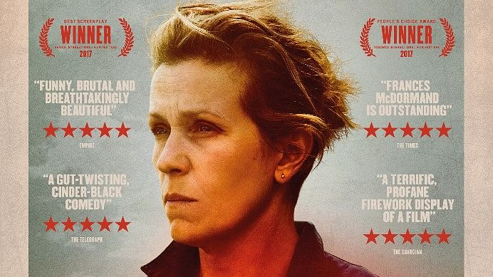 A poster of <i>Three Billboards outside Ebbing, Missouri</i>.