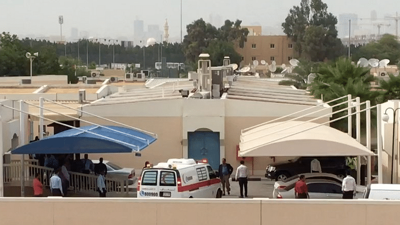 Sridevi's body en route Dubai airport from the embalming unit.