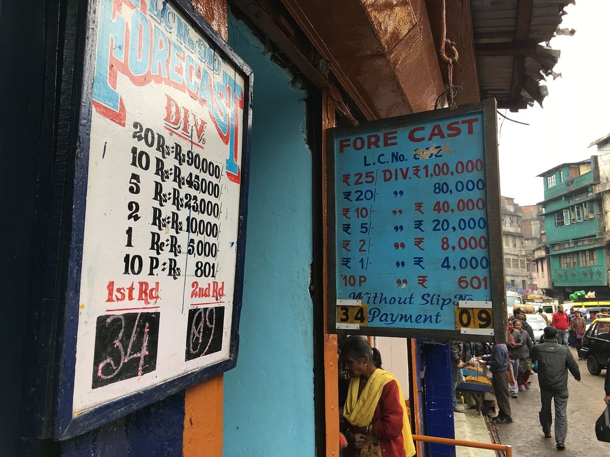 A 'Teer' betting counter in Shillong.