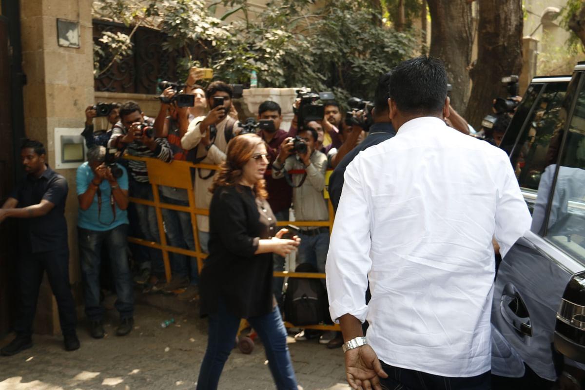 Filmmaker Farah Khan makes her way.