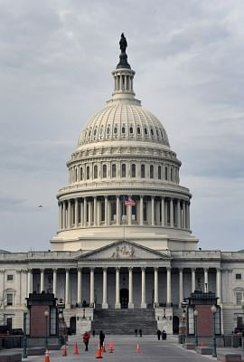 WASHINGTON, Jan. 22, 2018 (Xinhua) -- The U.S. Capitol is seen in Washington D.C., the United States, on Jan. 22, 2018. U.S. Senate reached 60 votes Monday to advance bill to end government shutdown. (Xinhua/Yin Bogu/IANS)