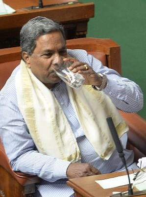 Bengaluru: Karnataka Chief Minister Siddaramaiah during a session of the state assembly in Bengaluru on Feb 22, 2018. (Photo: IANS)