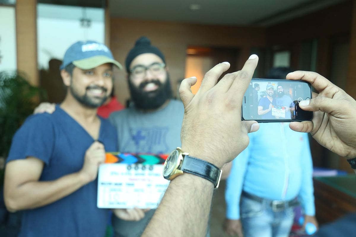 Anand Tiwari with partner Amritpal Bindra on the sets of <i>Love Per Square Foot.</i>