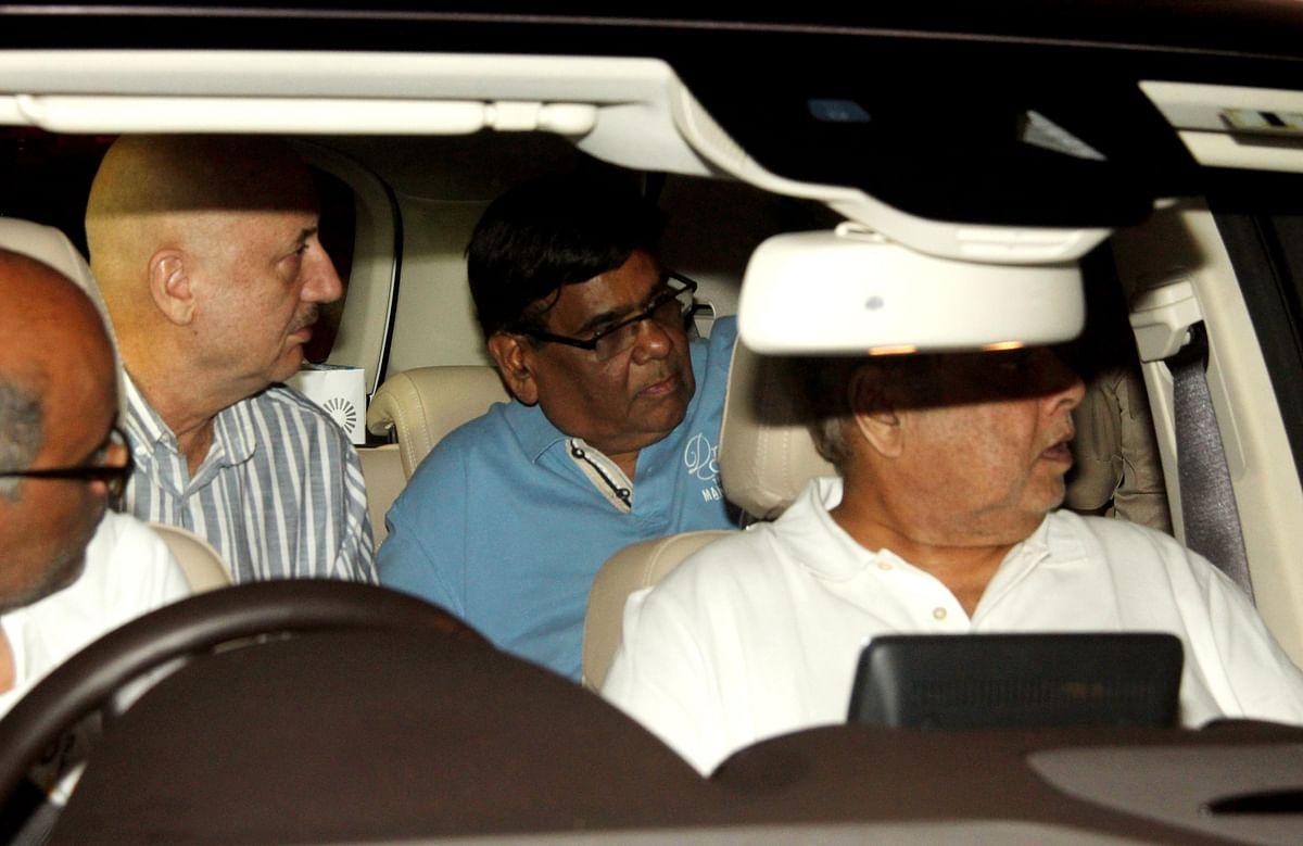 Anupam Kher with Satish Kaushik and David Dhawan.