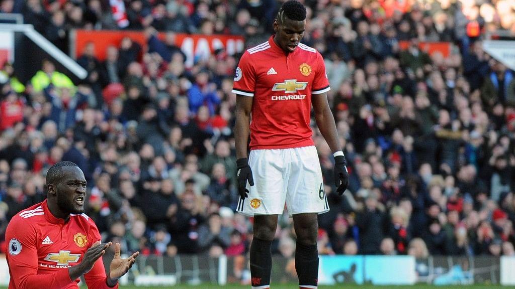 Manchester United's Romelu Lukaku (left) and Paul Pogba.