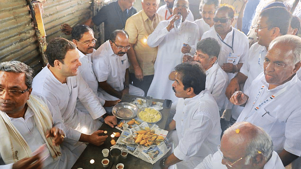 Congress President Rahul Gandhi Throws Chai-Pakoda Party in K'taka