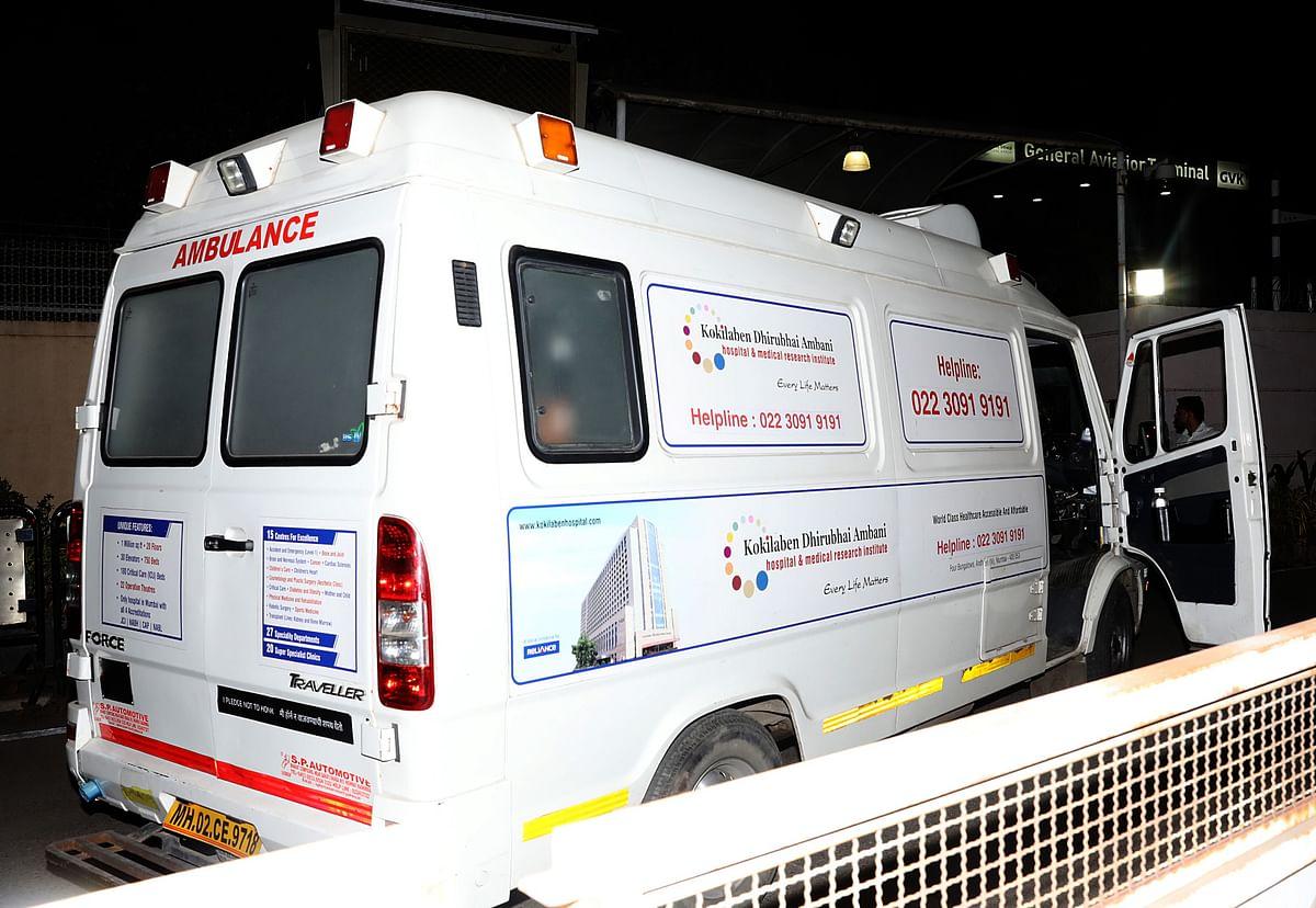 Ambulance at the airport.