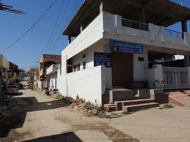 The lane where Rajashekar stays.