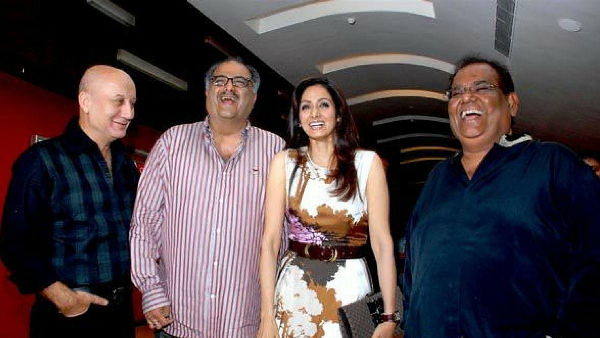 Anupam Kher, Boney Kapoor, Sridevi and Satish Kaushik.