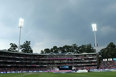 Johannesburg: Inclement weather halts play during the 4th ODI match between India and South Africa at the Wanderers Cricket Ground in Johannesburg, South African on Feb 10, 2018. (Photo: BCCI/IANS) (Credit Mandatory)