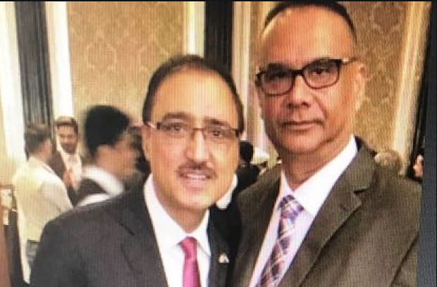 Canadian Minister of Infrastructure and Communities Amarjeet Sohi along with Jaspal Atwal.