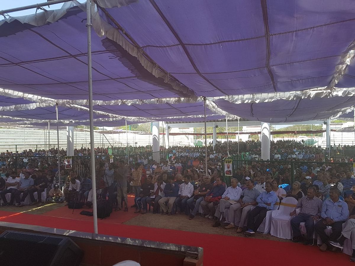Nearly 10,000 people attended the protest rally in Mysuru.
