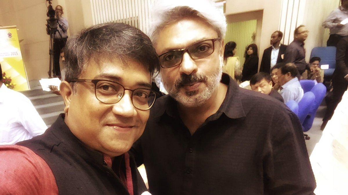 Sudeep Chatterjee with Sanjay Leela Bhansali.