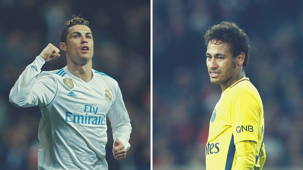 File pictures of Cristiano Ronaldo (left) and Neymar