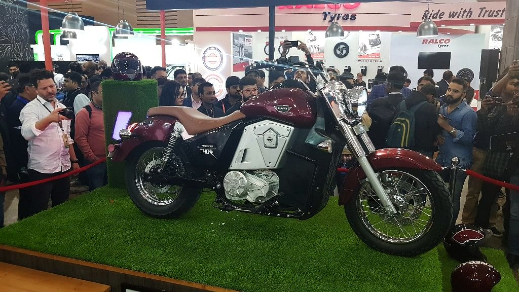 UM Motorcycles Renegade Thor at the Auto Expo 2018.